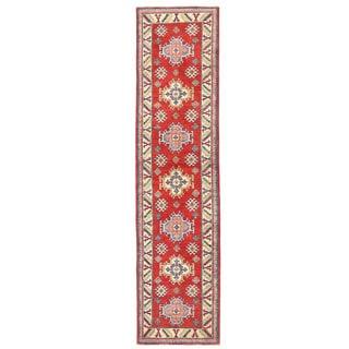 Herat Oriental Afghan Hand-knotted Kazak Wool Runner (2'4 x 9'9)