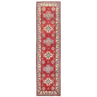 Herat Oriental Afghan Hand-knotted Kazak Wool Runner (2'5 x 9'3)