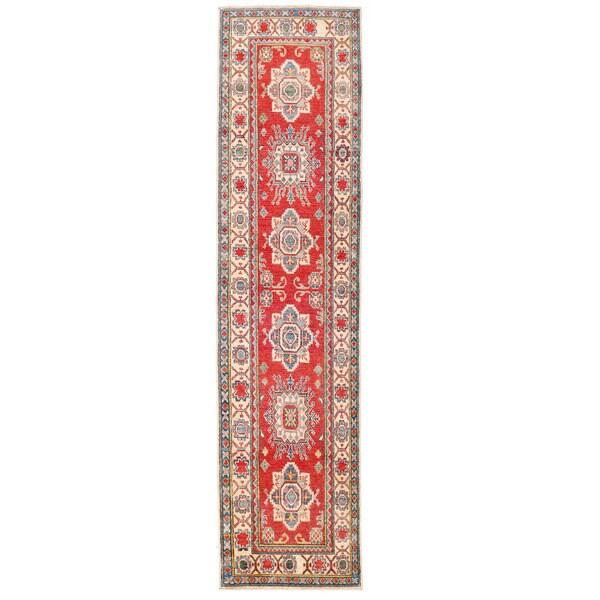 Handmade Herat Oriental Afghan Kazak Wool Runner (Afghanistan) - 2'9 x 11'2