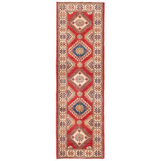 Herat Oriental Afghan Hand-knotted Kazak Wool Runner (2'9 x 9'5)