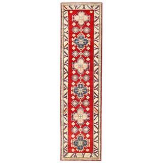 Herat Oriental Afghan Hand-knotted Kazak Wool Runner (2'5 x 9'5)