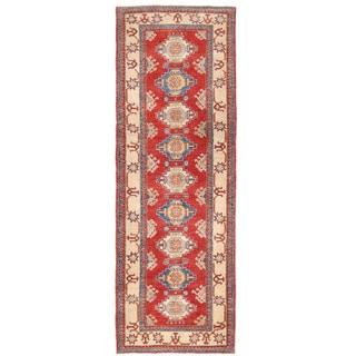 Herat Oriental Afghan Hand-knotted Kazak Wool Runner (2'11 x 9'4)