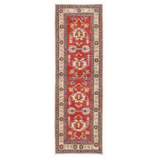 Herat Oriental Afghan Hand-knotted Kazak Wool Runner (2'10 x 8'9)