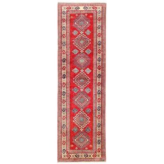 Herat Oriental Afghan Hand-knotted Kazak Wool Runner (2'9 x 9'2)