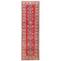 Handmade Herat Oriental Afghan Kazak Wool Runner (Afghanistan) - 2'9 x 9'2
