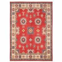 Handmade Herat Oriental Afghan Kazak Wool Rug  - 9'6 x 13'4 (Afghanistan)