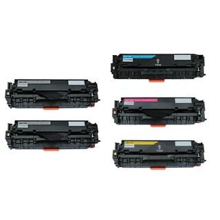 5PK Compatible Canon 118 BK C M Y 1Set + 1BK Toner Cartridge For Canon ImageClass MF8350Cdn ( Pack of 5 )