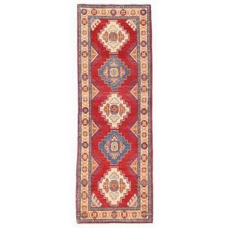 Herat Oriental Afghan Hand-knotted Kazak Wool Runner (2'2 x 6'6)