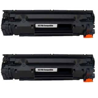 2PK Compatible CE278A Black Toner Cartridge For HP LaserJet P1566 P1606 P1606dn (Pack of 2)