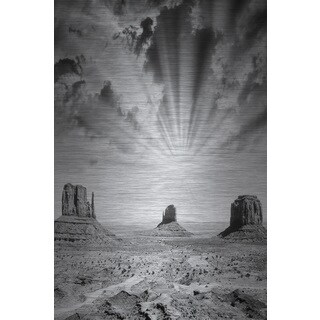 Marmont Hill 'Vision of Light' Painting Print on Brushed Aluminum