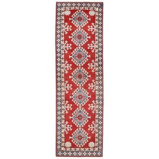 Herat Oriental Afghan Hand-knotted Kazak Wool Runner (2' x 7')
