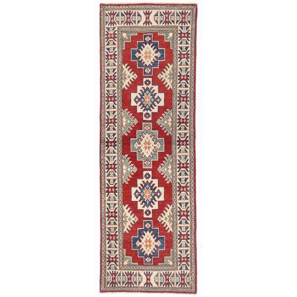 Handmade Herat Oriental Afghan Kazak Wool Runner (Afghanistan)