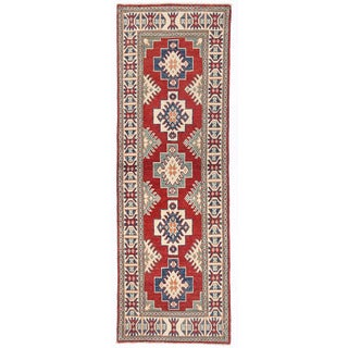 Herat Oriental Afghan Hand-knotted Kazak Wool Runner (2' x 6'2)