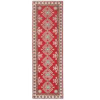 Handmade Herat Oriental Afghan Kazak Wool Runner (Afghanistan) - 2'2 x 7'2