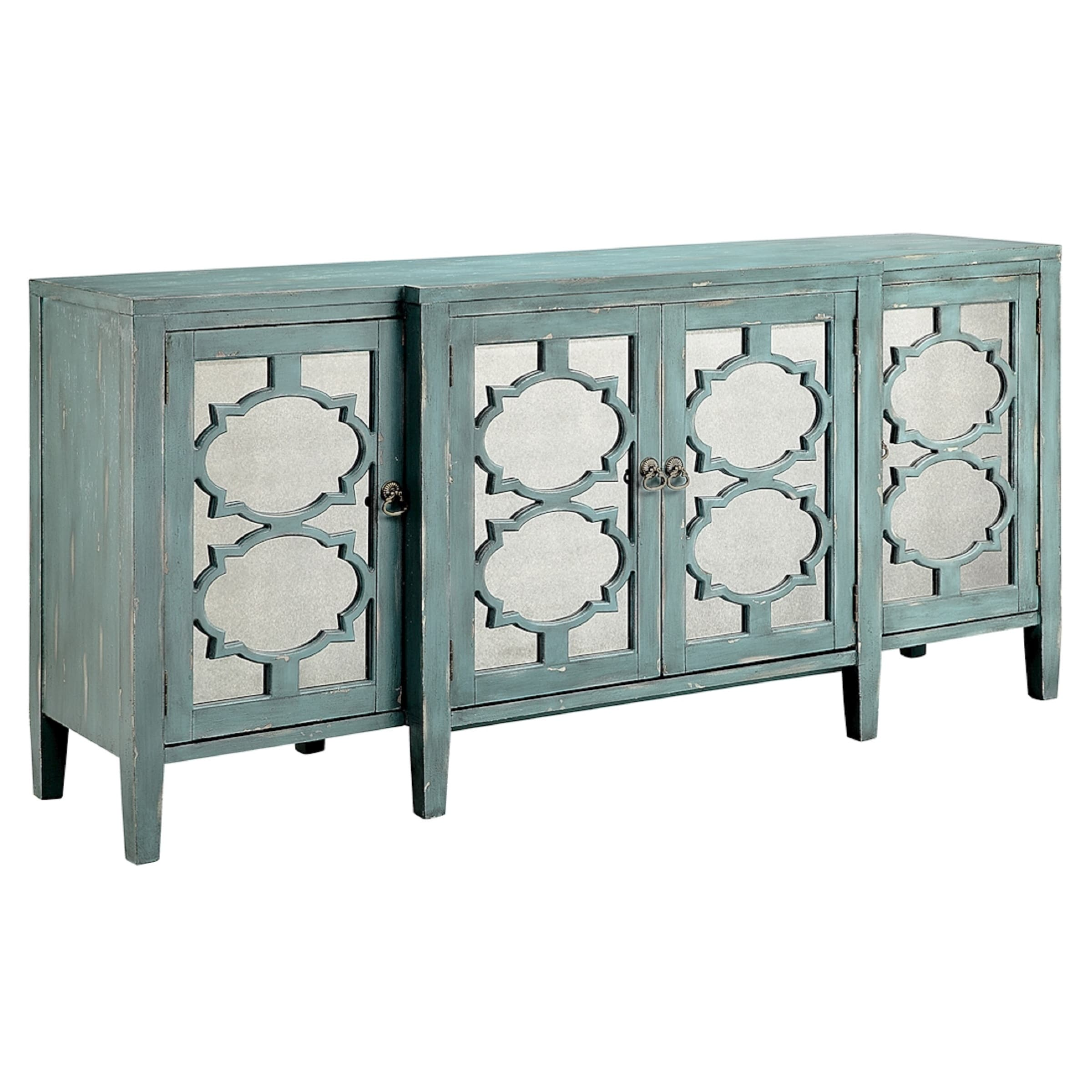 Picture of: Carrie Ocean Blue Breakfront Credenza Buffet Table Overstock 11989740