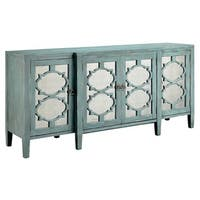 Carrie Ocean Blue Breakfront Credenza/ Buffet Table