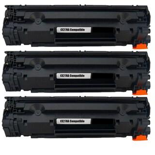 3PK Compatible CE278A Black Toner Cartridge For HP LaserJet P1566 P1606 P1606dn (Pack of 3)