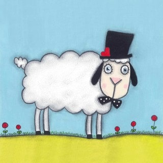Marmont Hill 'Sheep with Hat' Painting Print on Wrapped Canvas
