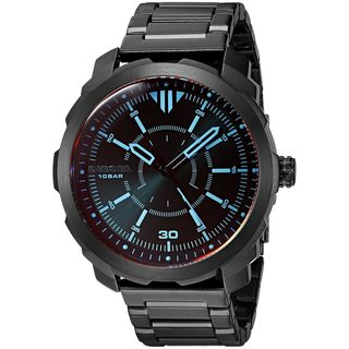 Diesel Men's DZ1737 'Machinus NSBB' Iridescent Tracking Black Stainless Steel Watch