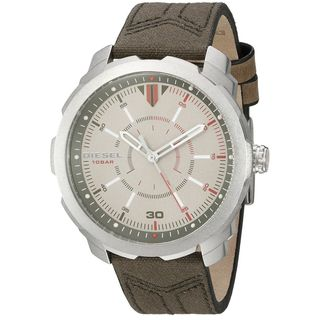 Diesel Men's DZ1735 'Machinus NSBB' Brown Canvas and Leather Watch
