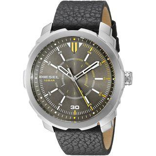 Diesel Men's DZ1739 'Machinus NSBB' Black Leather Watch