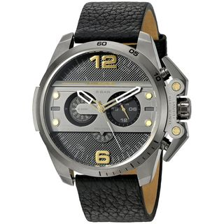 Diesel Men's DZ4386 'Ironside' Chronograph Black Leather Watch