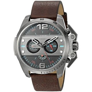Diesel Men's DZ4387 'Ironside' Chronograph Brown Leather Watch