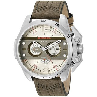 Diesel Men's DZ4389 'Ironside' Chronograph Brown Leather Watch