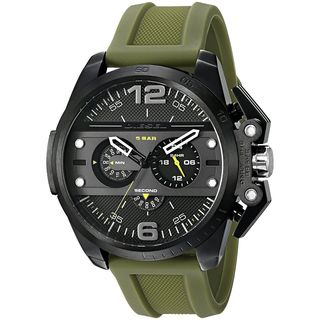 Diesel Men's DZ4391 'Ironside' Chronograph Green Silicone Watch