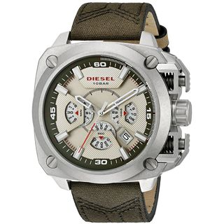 Diesel Men's DZ7367 'BAMF' Chronograph Brown Canvas and Leather Watch