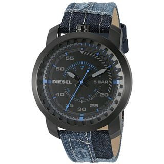 Diesel Men's DZ1748 'Rig' Blue Cloth and Leather Watch