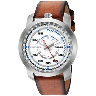 Diesel Men's DZ1749 'Rig' Brown Leather Watch