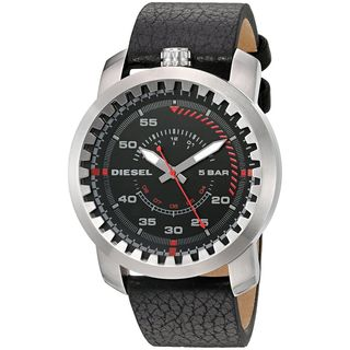 Diesel Men's DZ1750 'Rig' Black Leather Watch