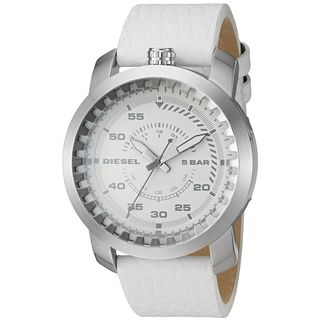 Diesel Men's DZ1752 'Rig' White Leather Watch
