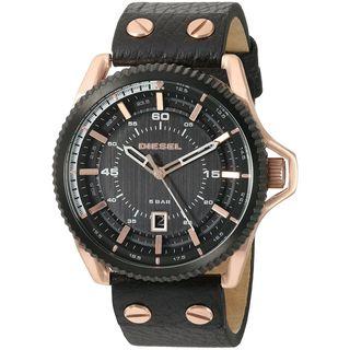 Diesel Men's 'Rollcage' Black Leather Watch