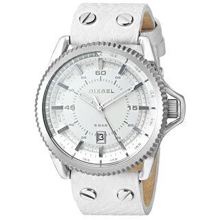 Diesel Men's DZ1755 'Rollcage' White Leather Watch