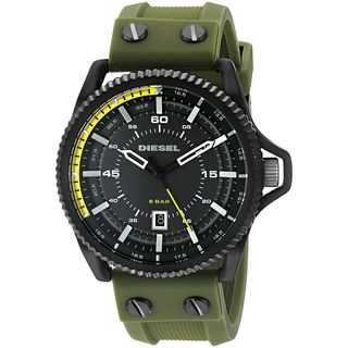Diesel Men's DZ1758 'Rollcage' Green Silicone Watch