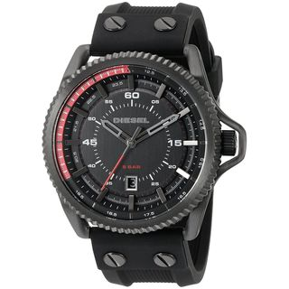 Diesel Men's DZ1760 'Rollcage' Black Silicone Watch