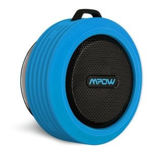 Mpow Buckler Portable Waterproof/Shockproof/Dustproof Wireless Blue/Black Bluetooth Speaker for Outdoor/Shower