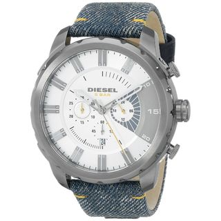 Diesel Men's DZ4345 'Stronghold' Chronograph Blue Cloth and Leather Watch