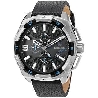 Diesel Men's DZ4392 'HeavyWeight' Chronograph Black Leather Watch
