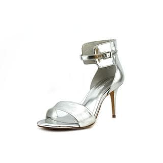 BCBGeneration Women's Dream Silver Patent Leather Sandals