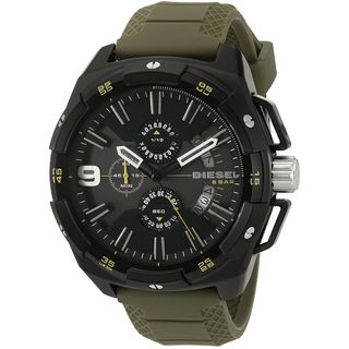 Diesel Men's DZ4396 'HeavyWeight' Chronograph Green Silicone Watch