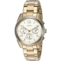 DKNY Women's  'Crosby' Multi-Function Gold-tone Stainless Steel Watch