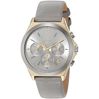 DKNY Women's NY2478 'Parsons' Chronograph Grey Leather Watch