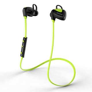 Mpow Seashell Bluetooth 4.1 Wireless Sports Black/Yellow Headset with Microphone for iPhone and Android Phones