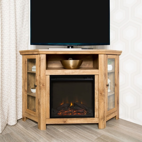 48 Inch Bardwood Corner Fireplace Tv Stand 18870158