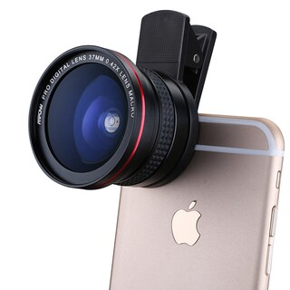 Mpow Supreme Fisheye 2-in-1 Clip-on 180-degree Clear Lens for 37-millimeter Diameter Thread Professional Cameras/Smart Phones