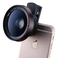 Mpow 2-in-1 Clip-on 0.6X Professional Wide Angle High Definition Clear Lens for iPhone, Smartphones, and Professional Cameras