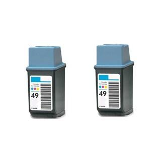 2PK Compatible HP 51649 (HP 49) Ink Cartridge For HP DeskJet 690C 694C 695C 697C ( Pack of 2 )